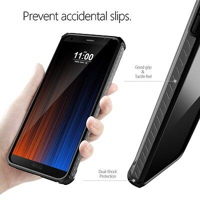 Case For LG G6 Poetic【Affinity】Shockproof Corner Protection Case Black