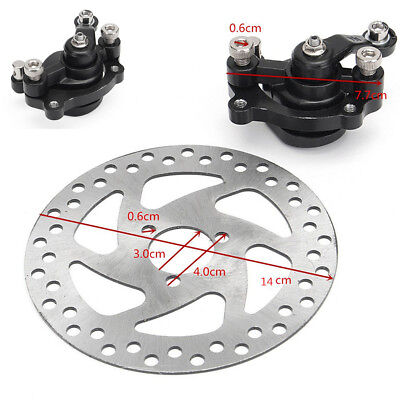 140mm Rotors Rear Disc Brake Caliper Kits For Engine Gas Electric Scooter Bike