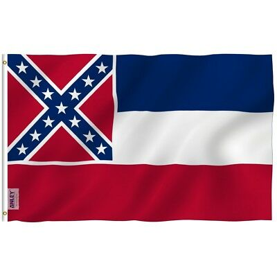 ANLEY Mississippi State Flag US Banner United State MS Polyester 3x5 Foot Flags](Banner Flag)