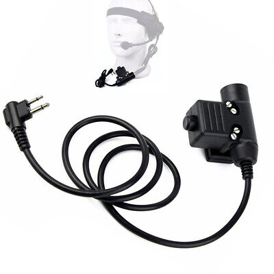 Z-Tactical U94 Headset Cable Adapter & PTT for Motorola HYT 2-PIN Ham Radio
