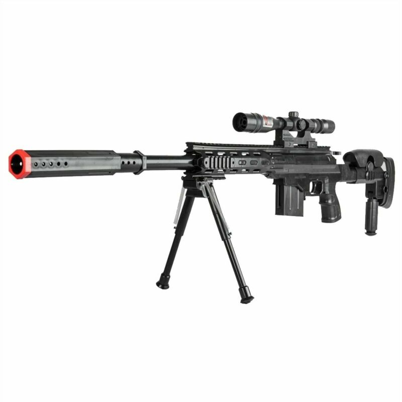 300FPS Airsoft Sniper Rifle Tactical Gun Setup Full Size with 6mm BBs BB