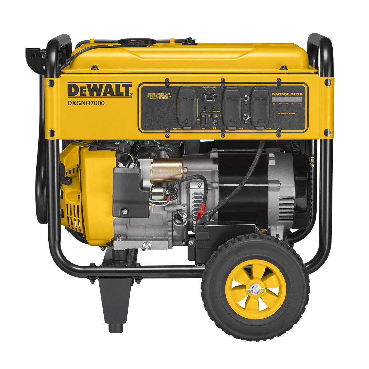 DeWALT 7000 Watt Portable Generator (reconditioned) | Electric Start | DXGNR7000