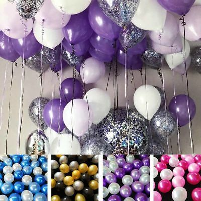 30PCS 10inch Latex Balloons Birthday Helium Balloon Wedding Party Decor Supplies - Birthday Supplies