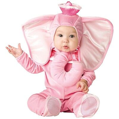 Baby Elephant Costume Pink Circus Halloween Fancy Dress