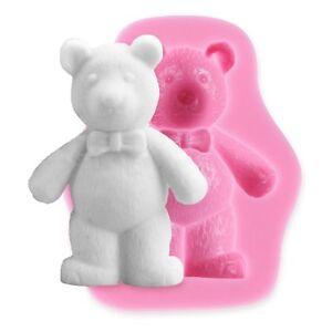 Teddy Bear Silicone Mould Fimo Sugarpaste Fondant Chocolate Sugarcraft DIY Mold