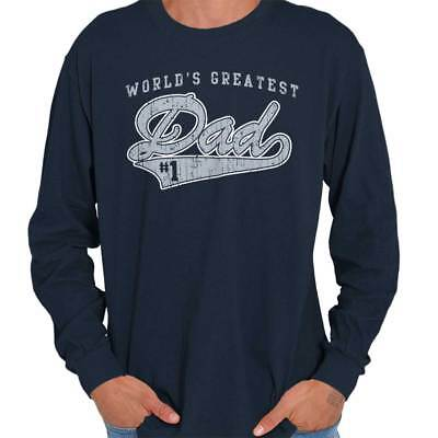 #1 World Greatest Dad Shirt | Father Day Gift Idea Cool Cute Long Sleeve T Shirt 1 Dad Long Sleeve T-shirt