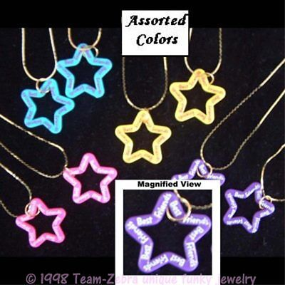 Funky Cute BFF BEST FRIENDS STAR NECKLACES Novelty Charm Costume Jewelry-ONE SET - Best Friends Costume