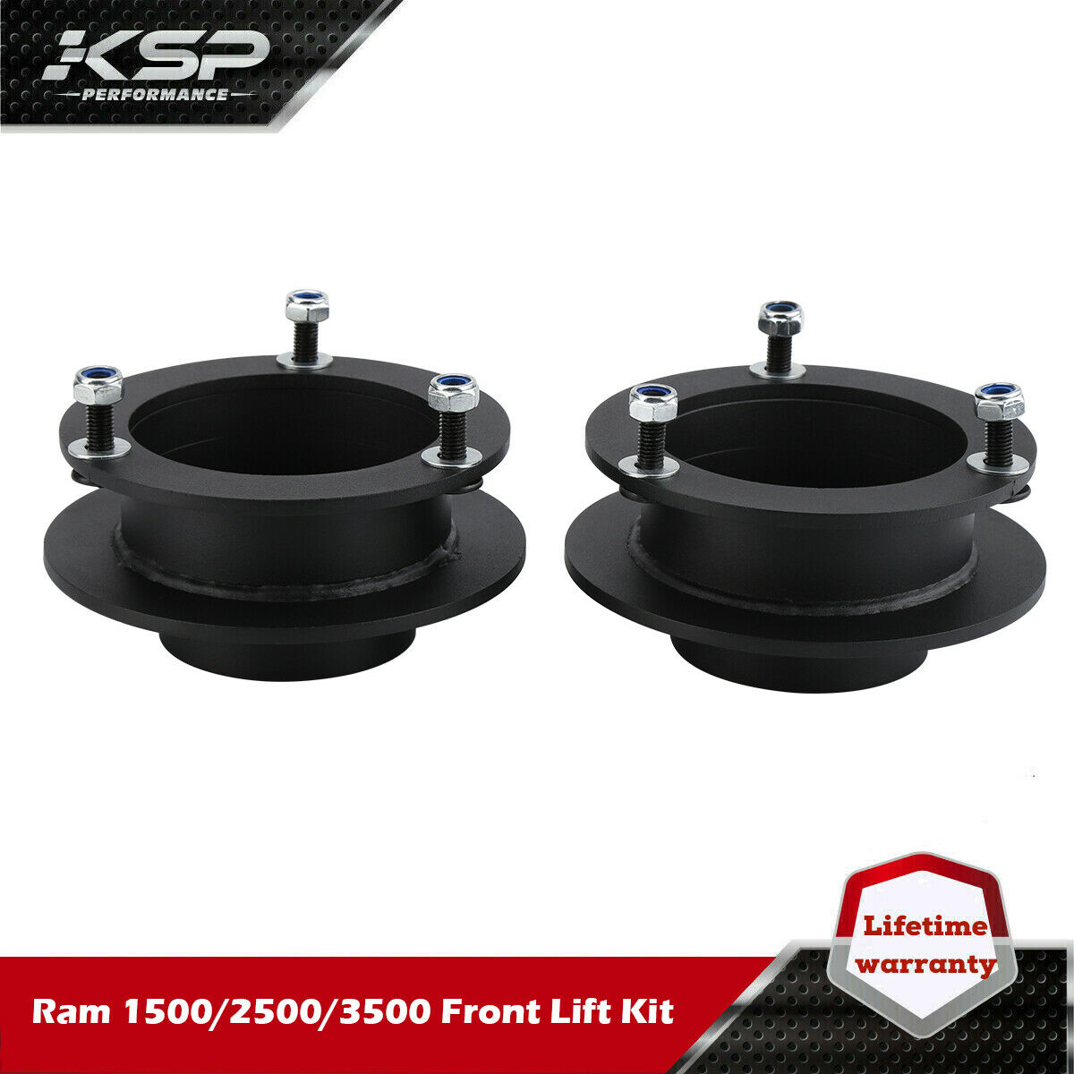 Black Steel Coil Spring Spacers 4WD ONLY 2.25 Lift 1994-2012 Ram 3500 for 1994-2001 Ram 1500 Front Dodge Ram Leveling Kit 1994-2013 Ram 2500