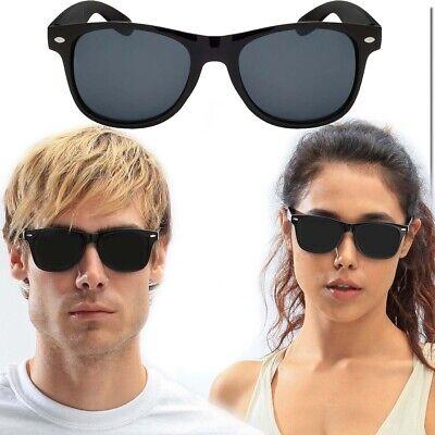 UNISEX SUNGLASSES WAYFARE STYLE CLASSIC SUNGLASS ALL BLACK DARK LENS NEW (Best Sunglass Lens)