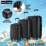 New Hardside Spinner Rolling 3pcs Luggage Trolley Travel Set Suitcases Bag ABS