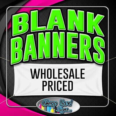 2x3 Blank White Banner 13oz. 24x36 Vinyl Banner With Grommets