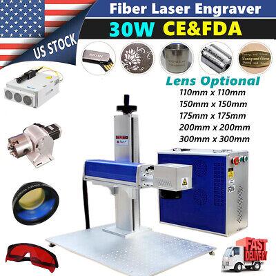 Us Stock 30w Split Fiber Laser Marking Machine Engraving Engraver Machine