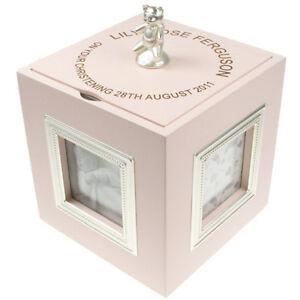 Personalised New Baby Girl Christening Musical Keepsake Box Unique Gift Idea