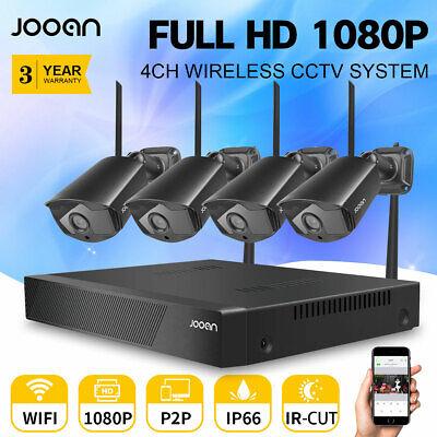 1080P CCTV Wireless Security Camera System Outdoor/Indoor H.265+ IP66 Waterproof