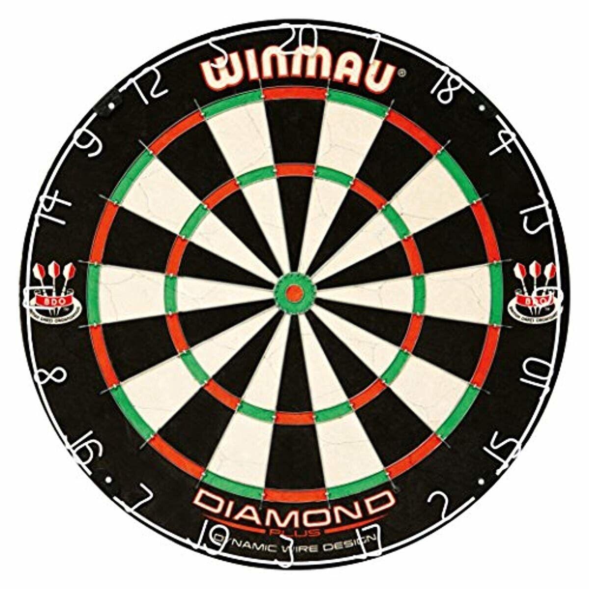 Winmau Diamond Plus Tournament Bristle Dartboard with Staple