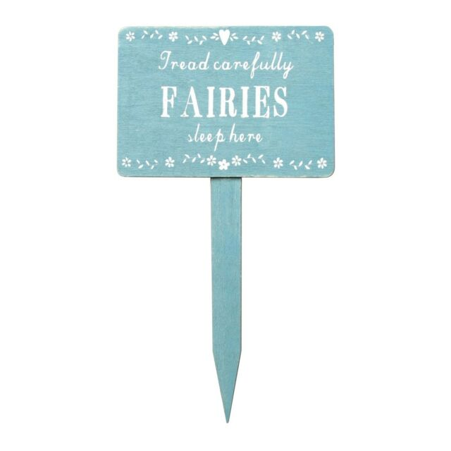 Wooden Garden Fairy Sleep Here Sign Plaque Fairies  Sass and Belle