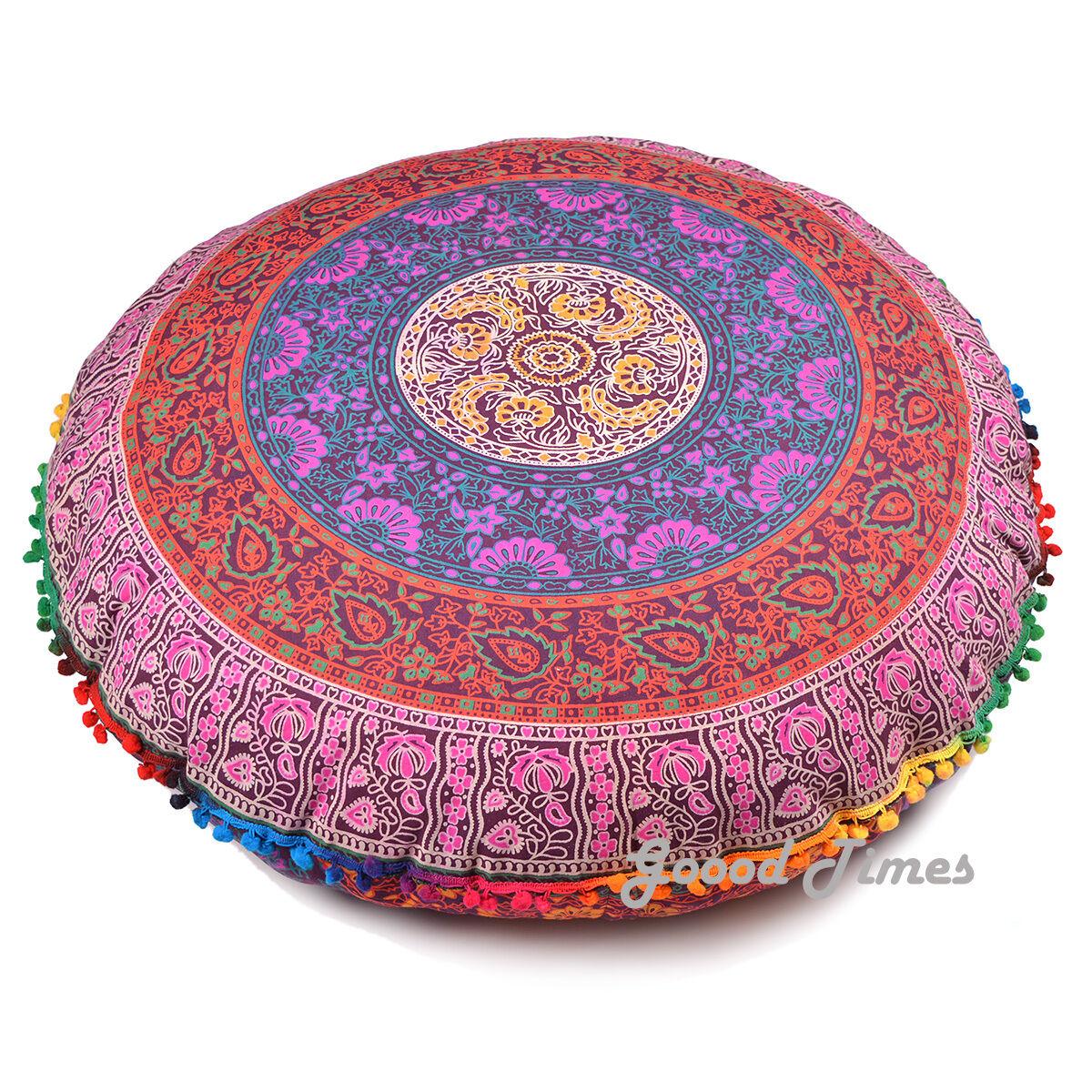 Mandala Round Case Cushion Cover Floor Pillow Bohemian Throw