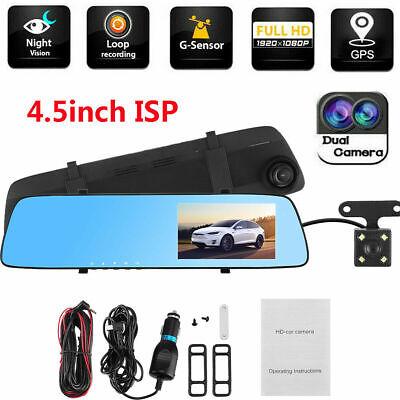 "4.5"" Vehicle Dash Cam FHD 1080P Car Dashboard DVR Camera Video Recorder G-Sensor"