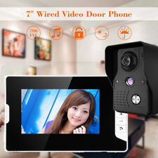 "7"" LCD Wired Video Door Phone Doorbell Entry Intercom System IR Camera 1-Monitor"