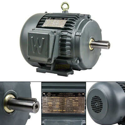 3 Hp 3 Phase Electric Motor 1800 Rpm 182t Frame Tefc 230460v Premium Efficiency