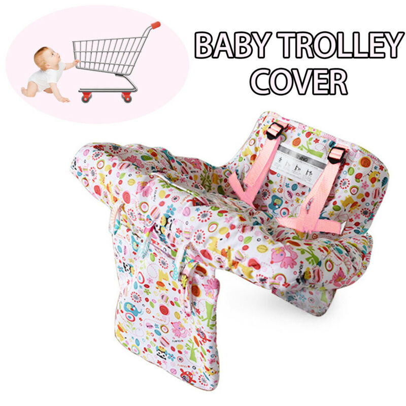 Foldable Cute Baby Shopping Trolley Cover Cart Seat Pad Kid Chair Protective Mat