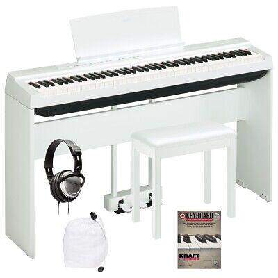 Yamaha P-125 Digital Piano - White COMPLETE HOME BUNDLE
