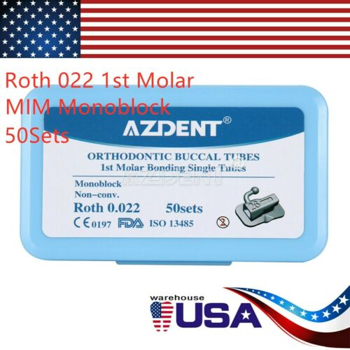 Azdent Dental Orthodontic Buccal Tube Non-conv Roth 022 1st Molar Bondable Mim