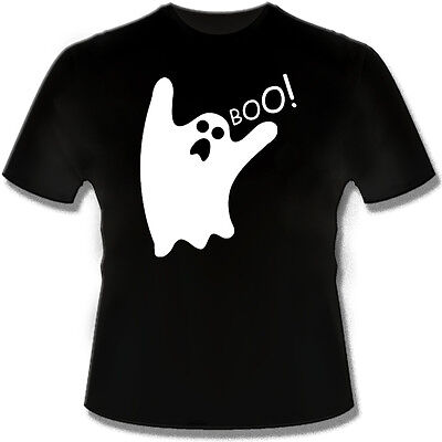 BOO!   GLOW IN THE DARK Ghost Funny T Shirt Tshirt for Halloween costume - Glow In The Dark T-shirts For Halloween