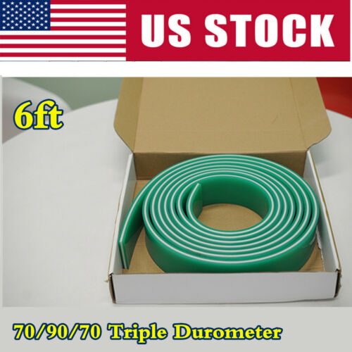 70/90/70 Triple Durometer Squeegee Blade for Silk Screen Printing- 6ft Roll
