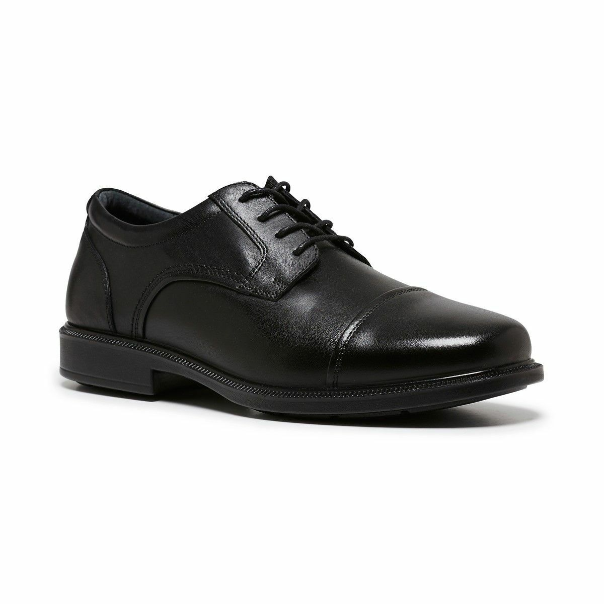 e9352073c12 MENS HUSH PUPPIES PETER BLACK TAN BROWN LEATHER LACE UP WORK FORMAL ...