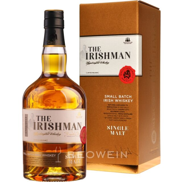 The Irishman Single Malt Irish Whiskey 0,7 Small Batch Whisky Walsh Distillery