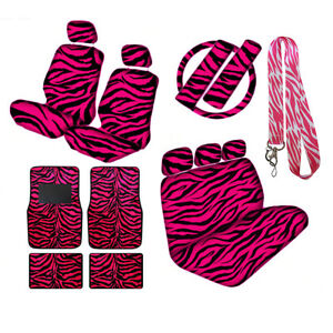 Pink Zebra Seat Covers