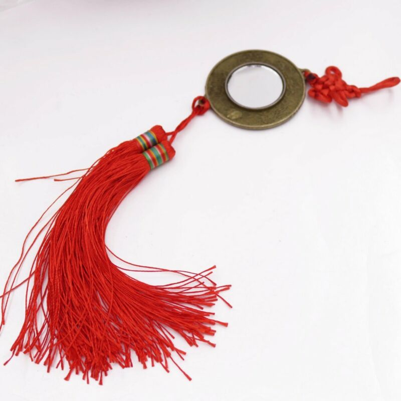PaKua BaGua Mirror Red Chinese Knot Fengshui  12 Zodiac Glass Mirror