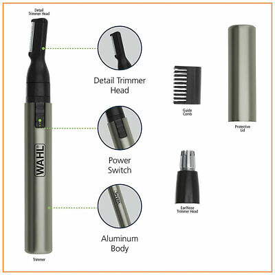 Ilong Tainga Trimmer Neck Hair na kilay Groomer Clippers Wahl Micro Personal Shaver