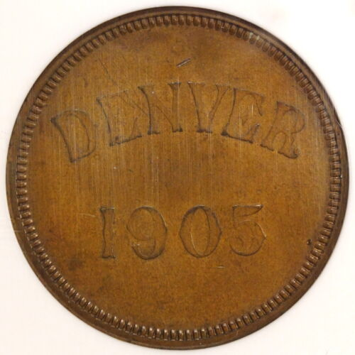 HK-876, Souvenir of the Opening of the Denver Mint 1905, NGC AU-58 & Very PQ
