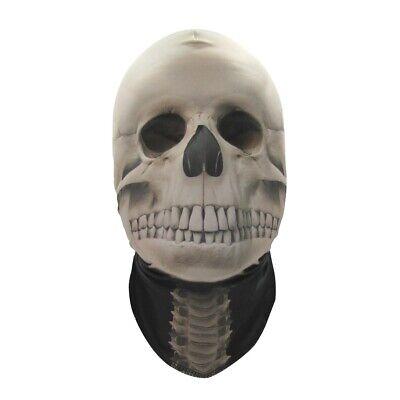 Skull Face Halloween Costume (Mesh Stocking Skull Full Face Cosplay Mask Skeleton Halloween Costume)