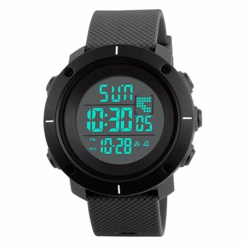Mens Military Dual Time LED Digital Countdown Timer Sport Quartz Wrist Watch US