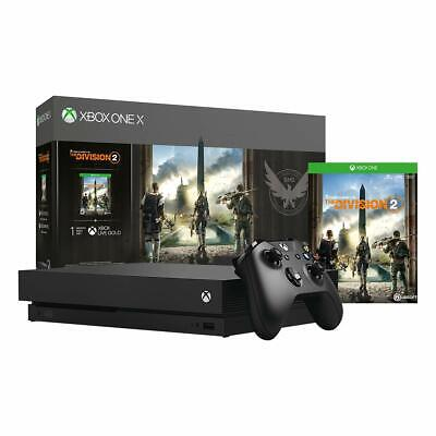 NEW Microsoft Xbox One X 1TB Gaming Console Tom Clancy's The Division 2 Bundle