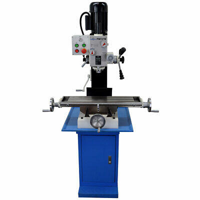 Pm-727m Vertical Bench Top Milling Machine With Stand Geared Head Free Shipping