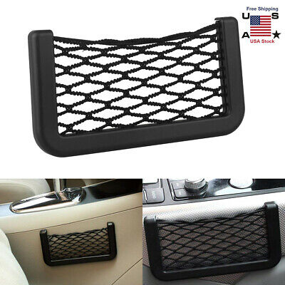 1pc Car Auto Interior Body Edge Elastic Net Storage Phone Holder Accessories
