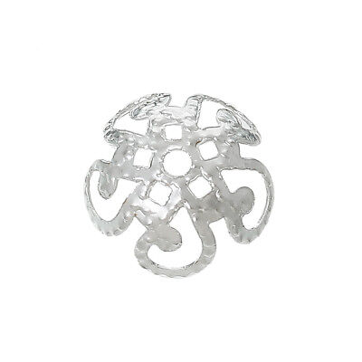 ❤ Bright Silver Plated Spacer BEAD CAPS Choose Design Jewellery Making ❤