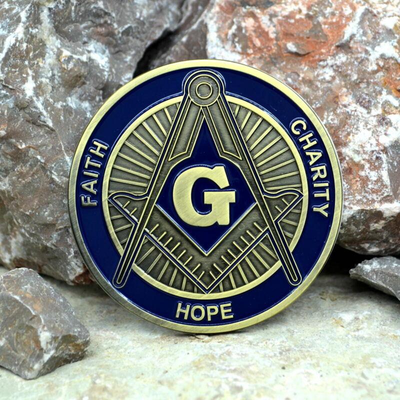 Masonic Auto Car Badge Emblems mason E41 FAITH HOPE CHARITY