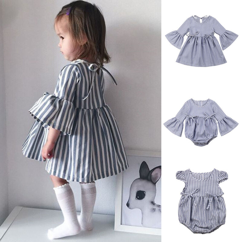 Kid Baby Girl Sister Matching Clothes Toddler Dress Infant Romper Sunsuit Outfit