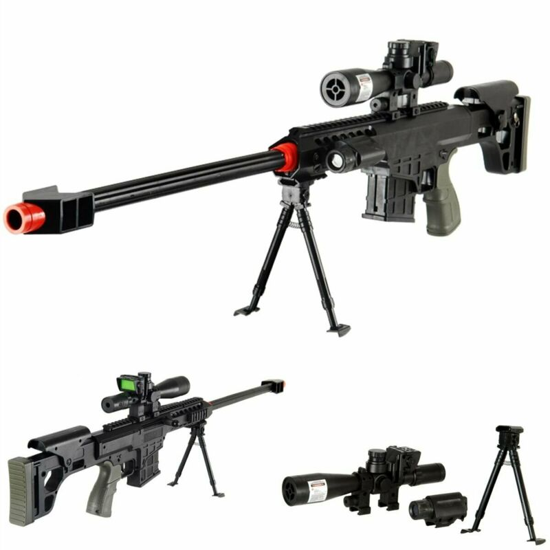 "*315 FPS* Airsoft Sniper Rifle Gun Full Tactical Setup 38"" Long w/ Dummy Scope"
