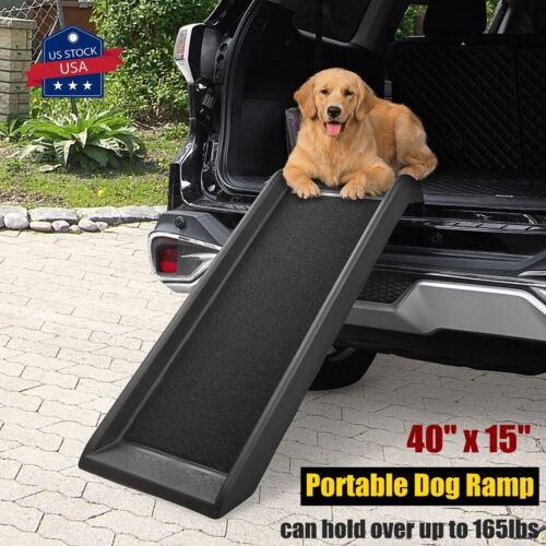 """40"""" Non-Skid Pet Ramp Ladder for Car Truck SUV Backseat Stair Steps For Dogs"""