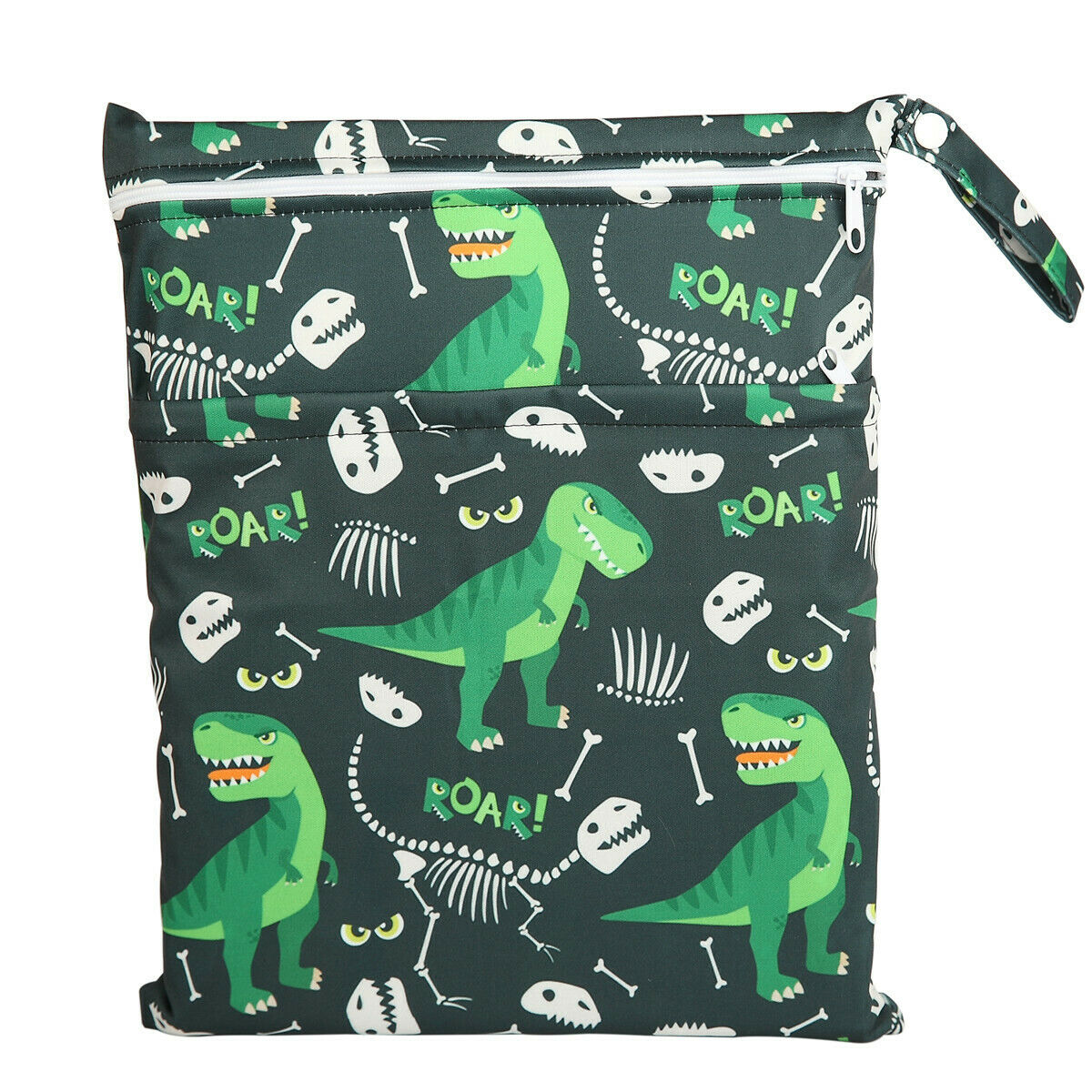 Wet Bag Baby Cloth Diaper Nappy Bag Double Zippers Pocket Di