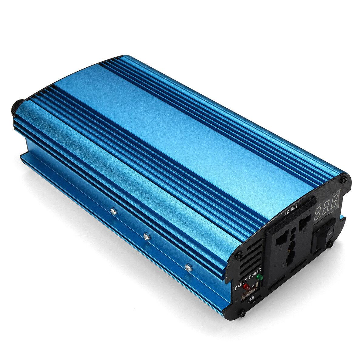2000W Solar Power Inverter DC12V//24V To 220V AC Modified Sine Wave Converter