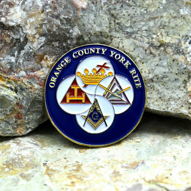 Masonic Lapel Pins Badge Mason Freemason B69 ORANGE COUNTY YORK RITE