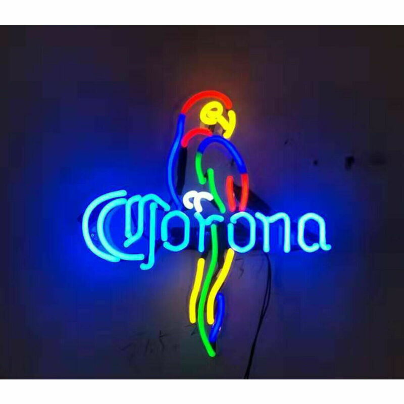 "Corona Extra Parrot Acrylic Neon Sign Beer Bar Gift 17""x14"" Light Lamp Bedroom"