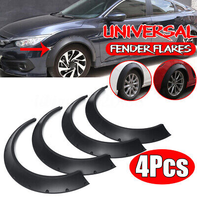4x 3.5'' Flexible Universal Car Fender Flares Extra Over Wide Body Wheel Arches